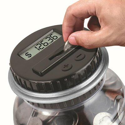 Coin Counting Piggy Bank Saving LCD Counter Money Jar Digital Change Box Gift