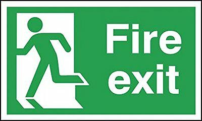 "Signs and Labels AMZFE048AECRP ""Fire Exit Running Man Left"" Safe Condition Sign,"