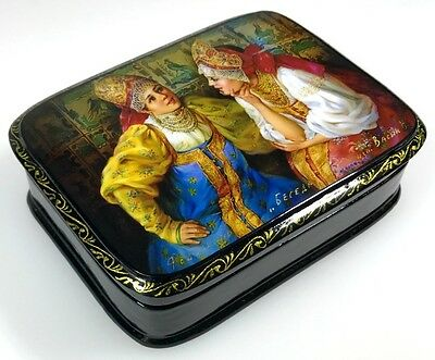 Im Gespräch Russische Lackmalerei Schatulle Russian lacquer box, Fedoskino