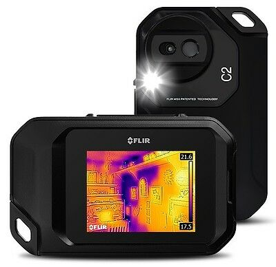 FLIR C2 Compact Thermal Imaging Camera, 80x60 Res, 14 to 302°F (–10°C to 150°C)