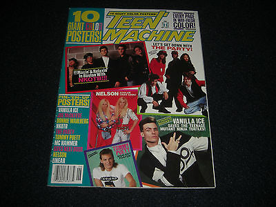 Teen Machine 10 Giant Posters Kiss Neisons NKOTB,Donnie Wahlberg June 1991