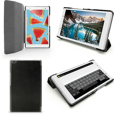 PU Leather Smart Case for Lenovo Tab 4 8'' 2017 Cover + Screen Protector
