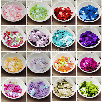 150Pcs 10mm Round Loose Sequins Paillettes DIY Sewing Wedding Jewelry Makings