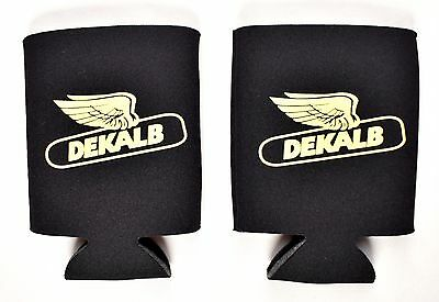 (Lot of 2) DEKALB Seed Corn Logo Koozie Black Can Coozie >NEW<