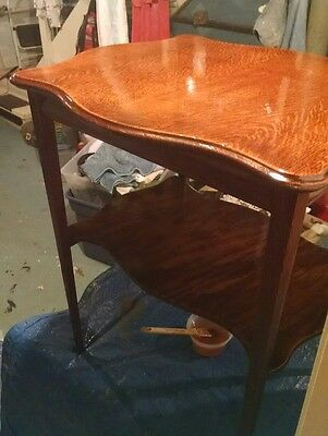 Antique Small Oak Table Refinished ( pickup only)