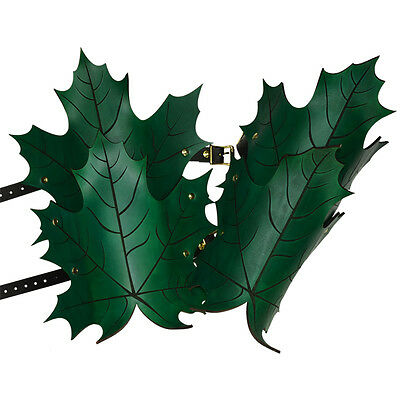 Leather Elven Leaf Greaves, Black Blue Green Brown Red Larp, Fantasy, Roleplay