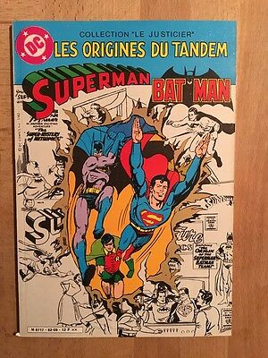 Superman et Batman - Les origines du tandem - Sagédition - 1982 - TBE