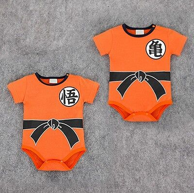 Dragon Ball Goku Funny Romper Jumpsuit Bodysuit Clothes Triangle Baby Climbing