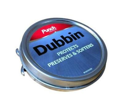 Punch Dubbin Tin Shoe Polish 50ml Cher Boot Care Wax Leather & Neutral Protects