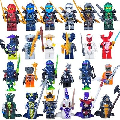 24 Pcs/set Ninjago Jay Kai Cole Lloyd Nya Mini Figures Fits Lego
