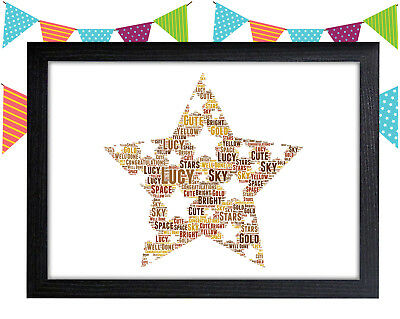 Personalised School Star Gift  Nursery Sign//Plaque Boy//Girl Good Luck P180//P179