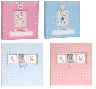 Baby Photo Album Boy Girl Blue Pink Polka Dot Princess Prince Newborn Gift
