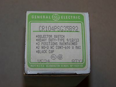 GE Control Selector Switch CR104PSG35B92