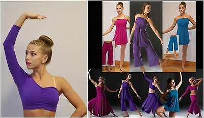 Reflections Crop Top Only Dance Costume Mix n Match Jazz Tap Ballet Contemporary