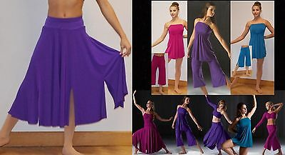 Reflections Skirt w/ Attached Trunks Dance Costume Jazz Tap Ballet Contemporary