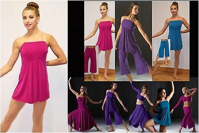 Reflections Tunic Only Dance Costume Mix n Match Jazz Tap Ballet Contemporary