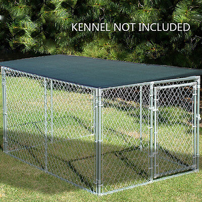 Alion Home© 90% UV Block Dog Kennel Cover - Dark Green 6x10, 6x12