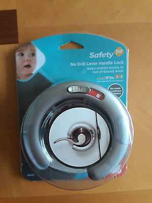 Safety 1st No Drill Lever Handle Lock 48448 Restrict Access NEW