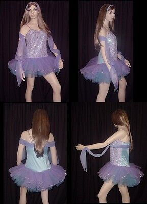 Whispering Willow Dance Costume Ballet Tutu w/Drape Curtain Call Adult 14 New
