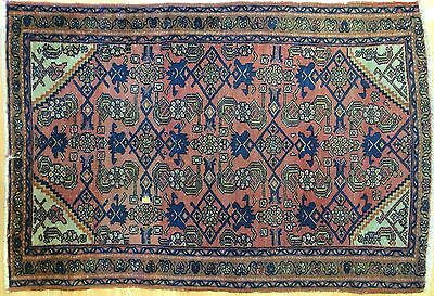 Marvelous Malayer - 1900s Antique Persian Rug - Herati Carpet - 2.8 x 4.1 ft.