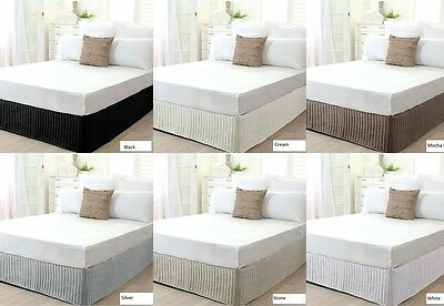 New Ardor King Bed Size Quilted Valance / Bedskirt Machine Washable
