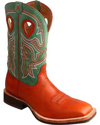 Twisted X Neon Green Horseman Cowboy Boot - Square Toe  - MHM0018