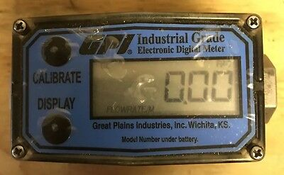 GPI 316ss flow Meter with LCD Readout 1/2in NPT 1 to 10 GPM