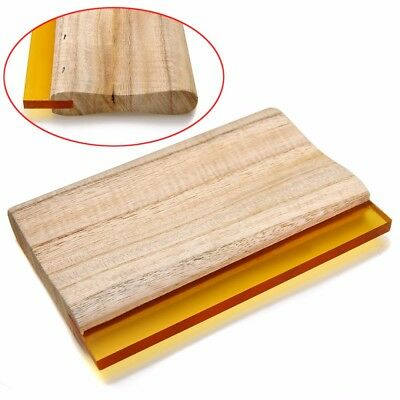 "Silk Craft Screen Printing Squeegee Wooden Handle Ink Scraper Blade 6"" Length"