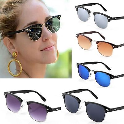 Clubmaster Sunglasses Unisex Men Women Fashion Shades Retro Vintage UV400