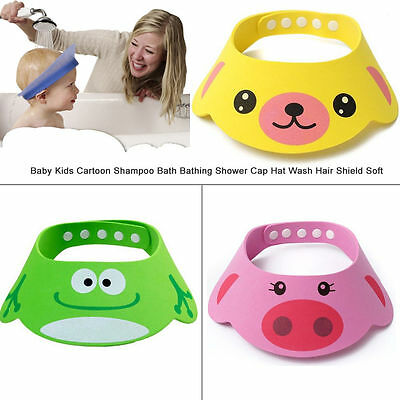 Waterproof Baby Kids Shampoo Bath Bathing Shower Cap Hat Wash Hair Shield