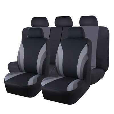 Unviersal Car Seat Covers Protector Black Orange Split Rear 40/60 Airbag Friendl