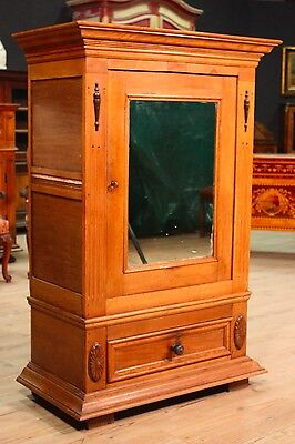 Closet furniture antique style cabinet mirror wardrobe armoire wood antiques 900