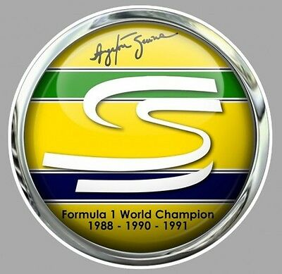 A. SENNA Formula one World Champion Sticker Trompe-l'oeil