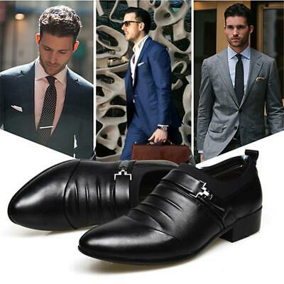 Men's Dress Formal Leather Shoes Business Casual Wedding Pointed Toe Shoes JJ