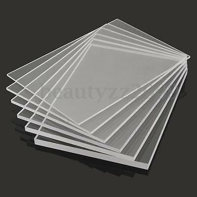 1-10mmA2 A3 A4 A5 A6 Acrylic Perspex Sheet Cut to Size Panel Plastic Satin Gloss