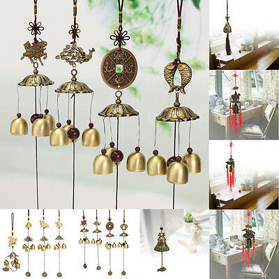 Lucky Feng Shui Chinese Bells Hanging Wind Chimes Yard Garden Outdoor Decor Kits