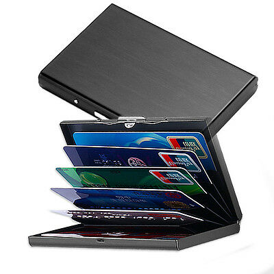 `Waterproof Business ID Credit Card Wallet Holder Aluminum Metal Pocket Case box