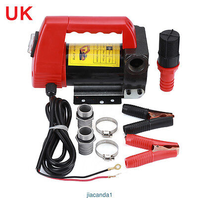 12V Diesel Fluid Extractor Self-priming Fuel Transfer Auto Electric Pump 40L/Min