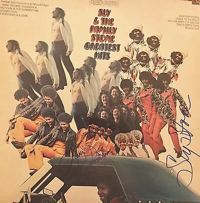 Sly Stone & Larry Graham SIGNED GREATEST HITS LP