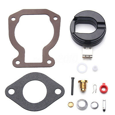 Carburetor Repair Rebuild Carb Kit w/ Float For 4-15 hp Johnson Evinrude 398453