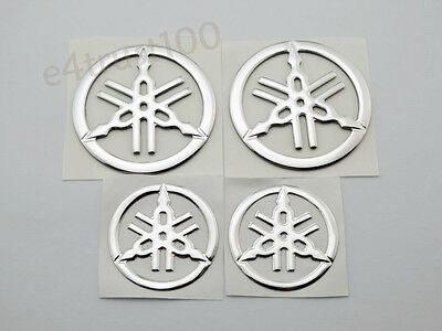 Tuning Fork Emblem Decals for Yamaha Tank Fairing Motorcycle Car Badge Stickers