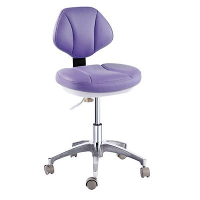 Dental PU Leather Mobile Chair Medical Dentist's Chair Doctor's Stool Purple New