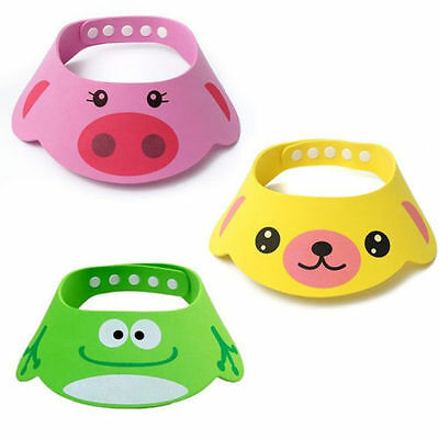 New Cute Baby Children Safe Shampoo Bath Bathing Shower Cap Hat Wash Hair Shield