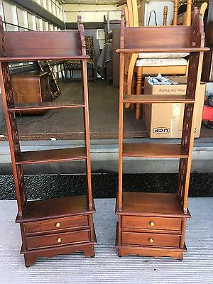 pair reproduction small bookcases