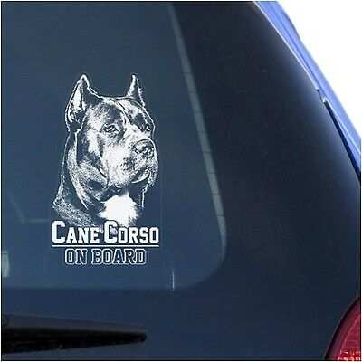 Cane Corso Clear Decal Sticker Portrait for Window Corz Molosser Italian Mast...
