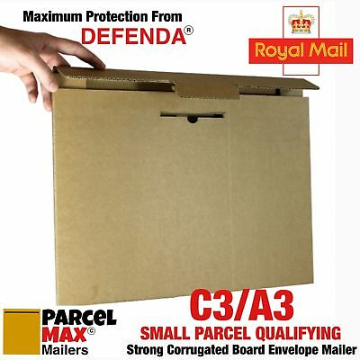 10 x A3 C3 ROYAL MAIL SMALL PARCEL SIZE CARDBOARD ENVELOPES PARCELMAX Mailers