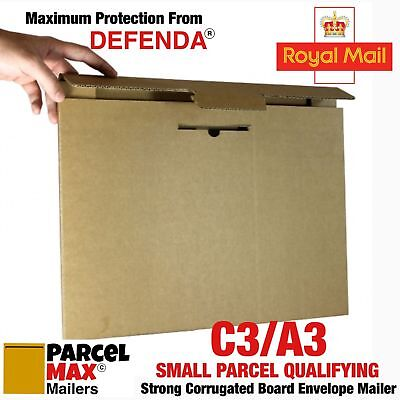 50 x A3 C3 SMALL PARCEL CARDBOARD ENVELOPES PARCELMAX Mailers NOT Board Backed