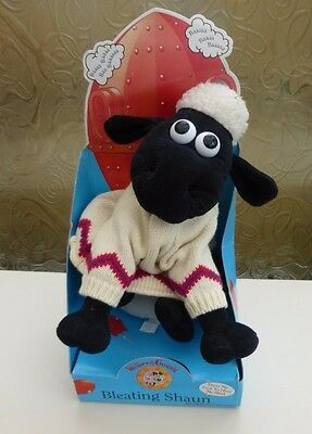 "Wallace & Gromit Plush Toy, Talking ""bleating Shaun"" The Sheep, 1989 In Box"