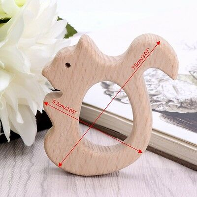 Natural Wood Animal Shape Pendant DIY Baby Teether Shower Toys Jewelry Findings