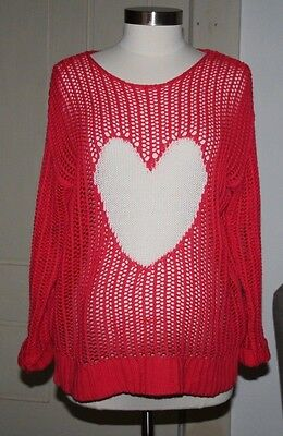 Motherhood Maternity, Size S, Loose Knit Sweater, Heart Design